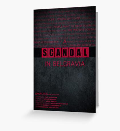 A Scandal in Belgravia fan poster Greeting Card