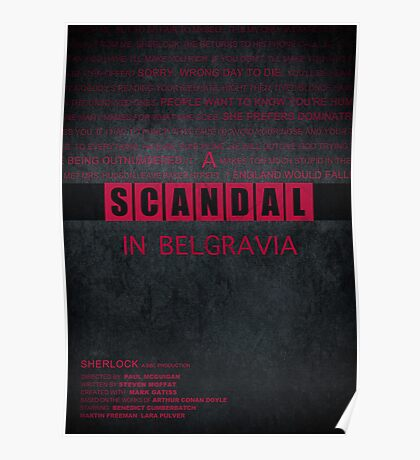 A Scandal in Belgravia fan poster Poster