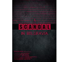 A Scandal in Belgravia fan poster Photographic Print