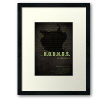 The Hounds of Baskerville fan poster Framed Print