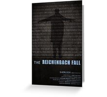 The Reichenbach Fall fan poster Greeting Card