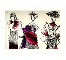 Japanese couture Art Print