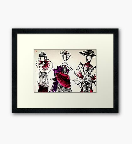 Japanese couture Framed Print