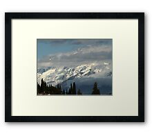 mountains with snow in winter Framed Print