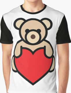 Teddy bear holding red heart Graphic T-Shirt