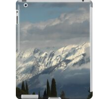 mountains with snow in winter iPad Case/Skin