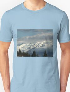 mountains with snow in winter Unisex T-Shirt