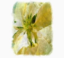 Pale Yellow Poinsettia 1 Sketchy Unisex T-Shirt