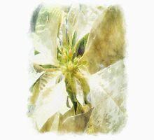 Pale Yellow Poinsettia 1 Watercolor Unisex T-Shirt