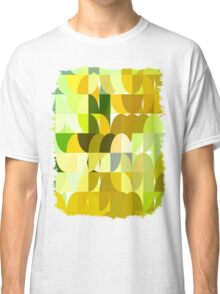 Pale Yellow Poinsettia 1 Abstract Circles 1 Classic T-Shirt