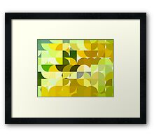 Pale Yellow Poinsettia 1 Abstract Circles 1 Framed Print