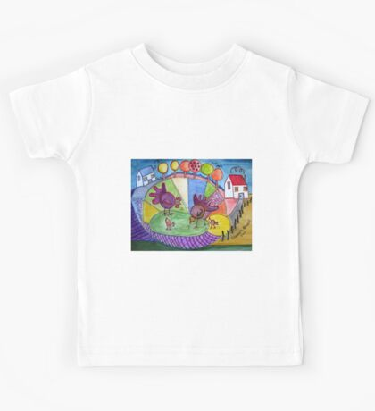 To be a child again. (inspired by Boris Posavec) Kids Tee