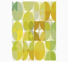 Pale Yellow Poinsettia 1 Abstract Circles 3 Kids Clothes