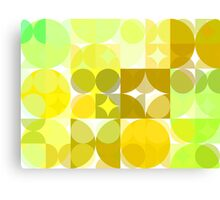 Pale Yellow Poinsettia 1 Abstract Circles 3 Canvas Print