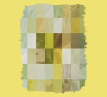 Pale Yellow Poinsettia 1 Abstract Rectangles 3 Kids Tee
