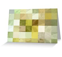 Pale Yellow Poinsettia 1 Abstract Rectangles 3 Greeting Card