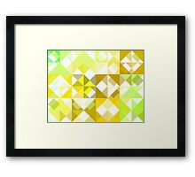 Pale Yellow Poinsettia 1 Abstract Triangles 1 Framed Print