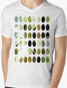 Pale Yellow Poinsettia 1 Art Circles 1 Mens V-Neck T-Shirt