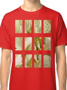Pale Yellow Poinsettia 1 Art Rectangles 2 Classic T-Shirt