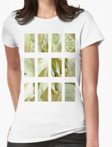 Pale Yellow Poinsettia 1 Art Rectangles 2 Womens Fitted T-Shirt