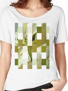 Pale Yellow Poinsettia 1 Art Rectangles 15 Women's Relaxed Fit T-Shirt