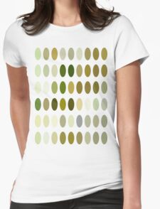 Pale Yellow Poinsettia 1 Dots Womens Fitted T-Shirt