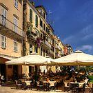 Corfu Town Restaurant by Tom Gomez