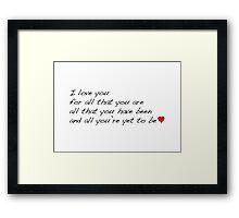 Love 01 Framed Print