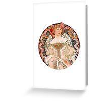 Alphonse Mucha: Art Nouveau Beauty Greeting Card