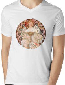Alphonse Mucha: Art Nouveau Beauty Mens V-Neck T-Shirt