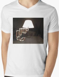 Articulated Desk Lamps - Copper and Chrome Collection - FredPereiraStudios_Page_09 Mens V-Neck T-Shirt