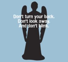 Weeping Angel Warning Kids Tee