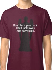 Weeping Angel Warning Classic T-Shirt