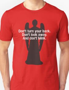 Weeping Angel Warning Unisex T-Shirt