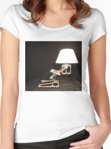 Articulated Desk Lamps - Copper and Chrome Collection - FredPereiraStudios_Page_20 Women's Fitted Scoop T-Shirt