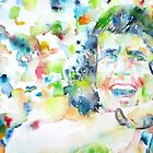 BON SCOTT - watercolor portrait by lautir