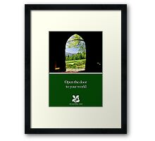 """National Trust """"open the door to your world"""" Framed Print"""