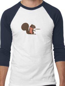 Squirrel Coffee Holiday Men's Baseball ¾ T-Shirt