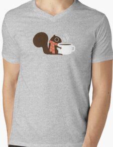 Squirrel Coffee Holiday Mens V-Neck T-Shirt