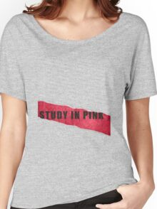 A Study in Pink fan poster Women's Relaxed Fit T-Shirt