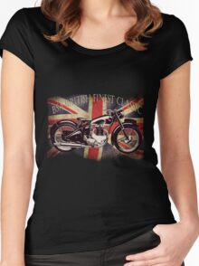 BSA British Finest Motorcycle Women's Fitted Scoop T-Shirt