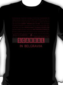 A Scandal in Belgravia fan poster T-Shirt