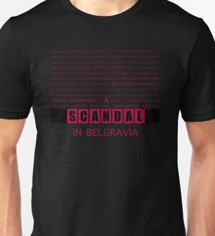 A Scandal in Belgravia fan poster Unisex T-Shirt