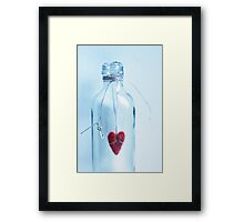 Heart in a bottle Framed Print