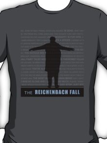 The Reichenbach Fall fan poster T-Shirt