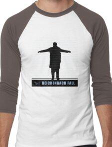 The Reichenbach Fall fan poster Men's Baseball ¾ T-Shirt