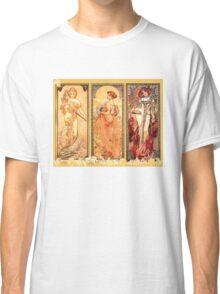 Alphonse Mucha: Art Nouveau Triptych Classic T-Shirt