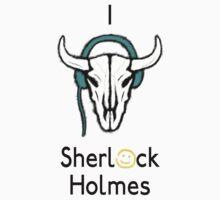 Sherlock - Cow skull (black text) Kids Clothes