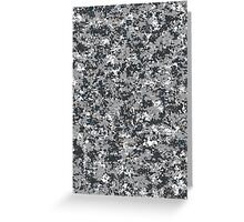 Military camouflage urban grey Greeting Card