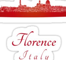 Florence skyline in red Sticker